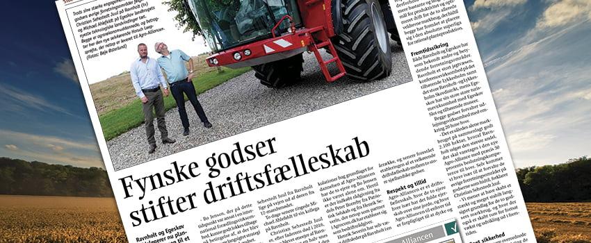 Effektivt Landbrug: Artikel om godser indgår samarbejde