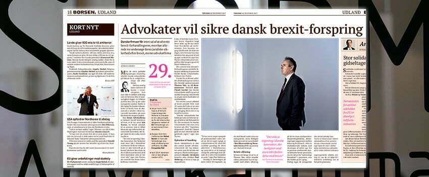 Børsen: Advokater vil sikre dansk brexit-forspring