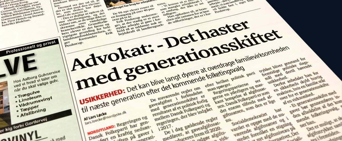 Medie: Det haster med generationsskiftet
