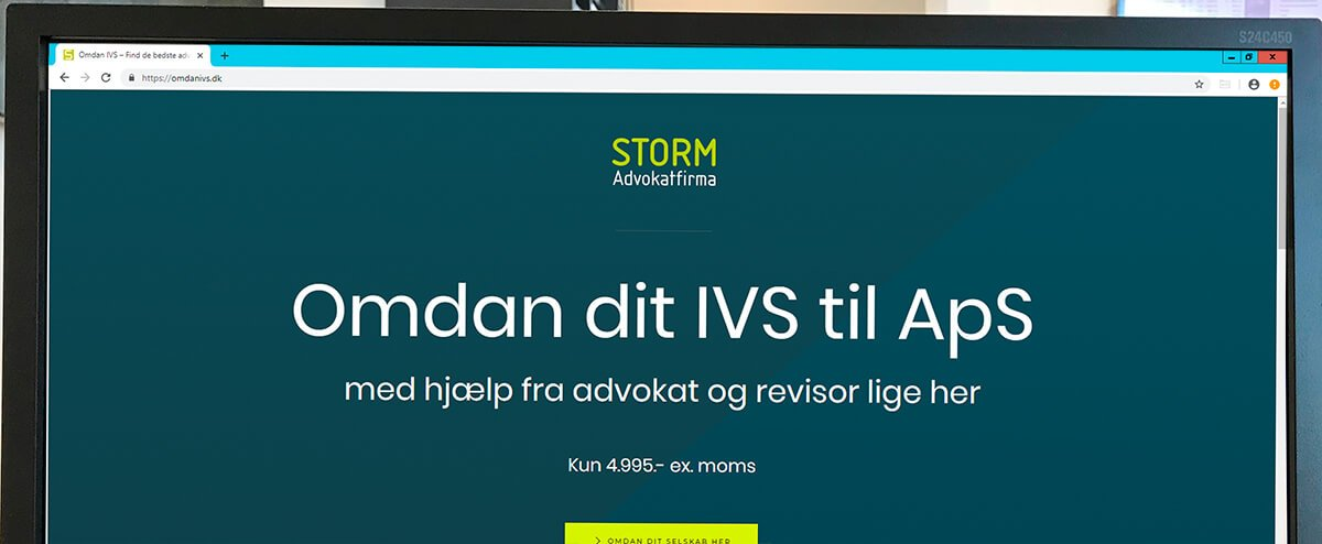 STORM Advokatfirma lancerer onlineportal til omdannelse af IVS-selskaber