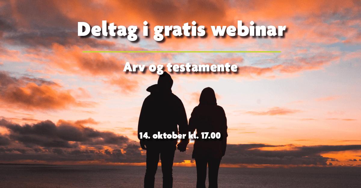Gratis webinar: Arv og testamente
